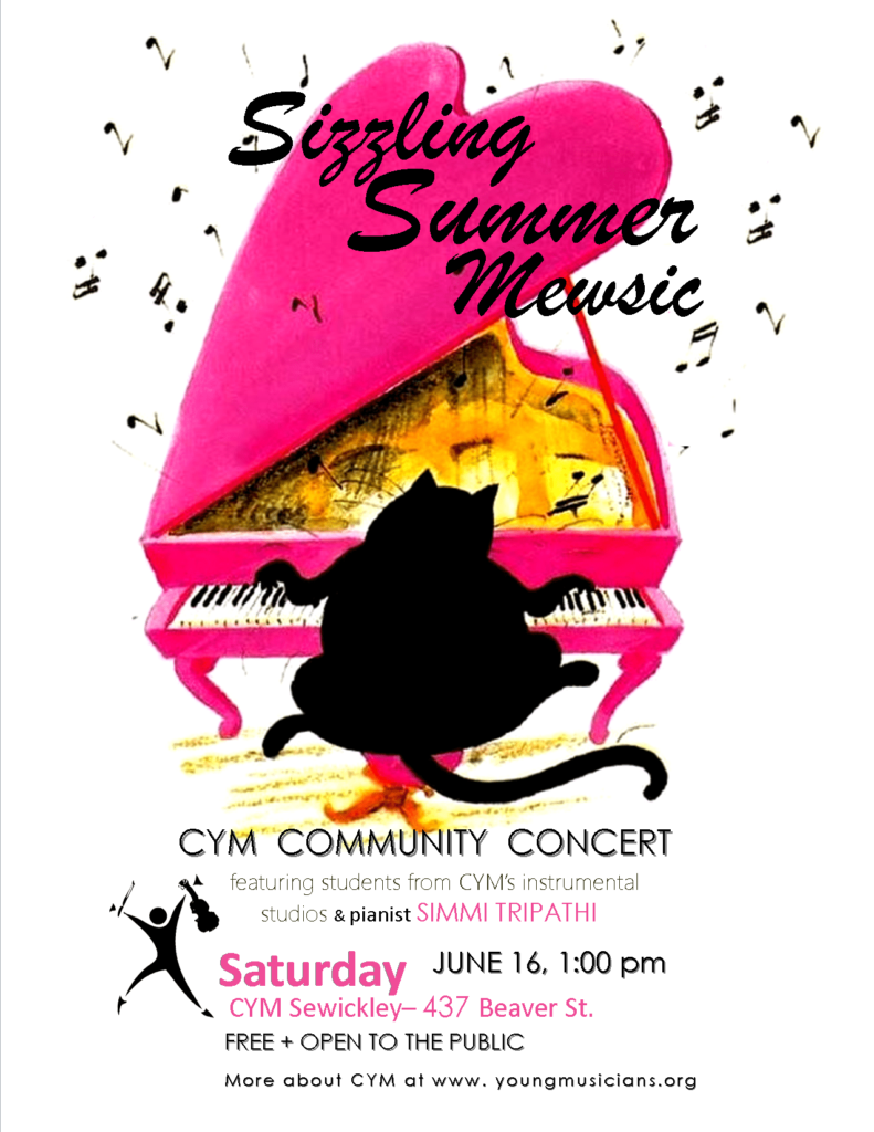 Sizzling Summer Mewsic Community Concert Poster