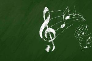 Music blackboard