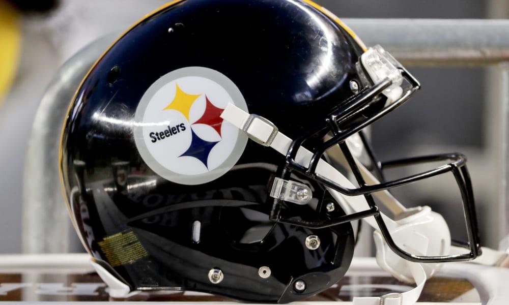 A Pittsburgh Steelers helmet along the bench during an NFL football game against the Cincinnati Bengals, Sunday, Dec. 30, 2018, in Pittsburgh. (AP Photo/Gene J. Puskar) ORG XMIT: PAKS